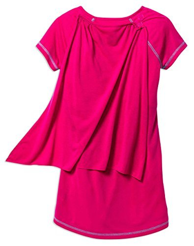 Girls Barbie Superhero Nightgown with Cape & Doll's Gown, Kids Size XS(4/5)