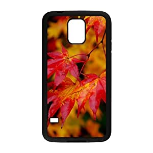 Autumn Maple Leaves Black Phone Case for Samsung Galaxy s5