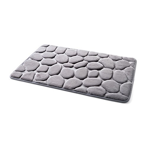 Absorbent Cobblestone Rug, Non-slip Memory Foam Floor Mat Soft Natural Runner Washable Carpet, Kitchen Shower Bathroom Home Decor(Size:W 15.75