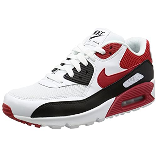 on sale 52282 edd52 on sale Nike Air Max 90 Essential Men Lifestyle Casual Sneakers New White  Red Black