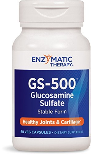 Enzymatic Therapy Gs-500 Glucosamine Sulfate Vegetarian Capsules, 60 Count by Enzymatic