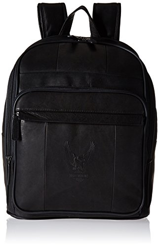 Harley Davidson Leather Backpack Large, Brown, One Size