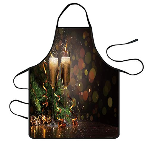 Halloween Names For Dishes (Iusun Merry Christmas Apron Decoration Waterproof Costume Ornament Lightweight Extra Long Extended Coverage Kitchen Dinner Party)