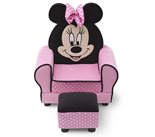 Charmant Amazon.com: Delta Children Figural Upholstered Chair With Ottoman, Disney Minnie  Mouse: Baby