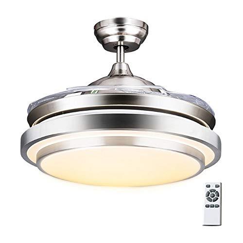42 Luce Per Ventilatore Da Soffitto Ventilatore Da Soffitto Silenzioso Con Ventilatore A 4 Pale Ventola Retrattile E Telecomando Lampadario Led Home
