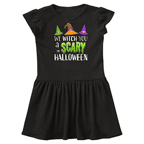 inktastic - We Witch You a Scary Halloween Toddler Dress 5/6 Black 32026 -