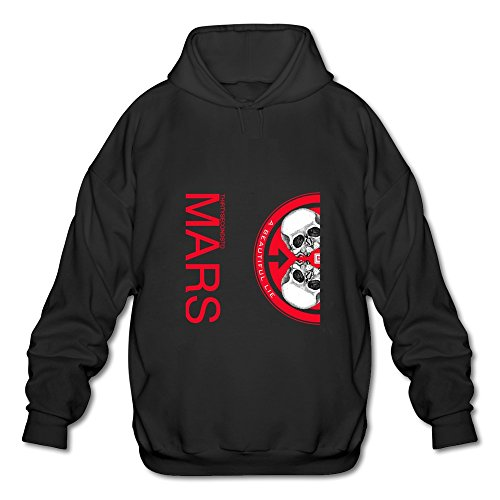 HUBA Men's Hoodies 30 Seconds To Mars-A Beautiful Lie Black Size M