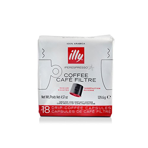 illy Iperespresso Drip Coffee Capsules, Medium Roast, 18 Count