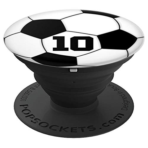 Soccer Ball #10 Grip for Soccer or Football Player No. 10 - PopSockets Grip and Stand for Phones and Tablets