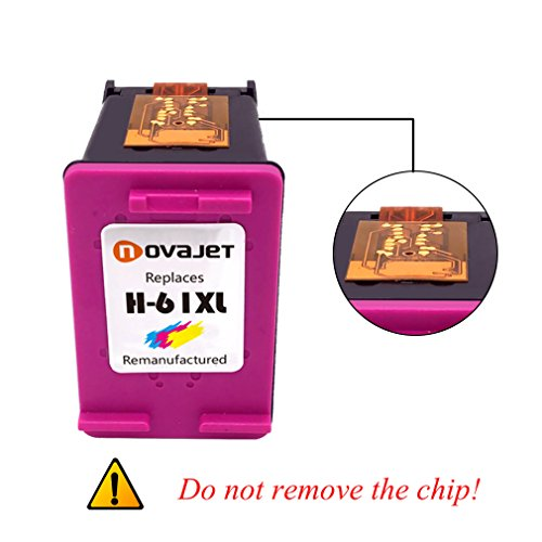 Novajet Remanufactured 61XL 61 XL Ink Cartridge (Black Colour) CH563WN CH564WN For HP Deskjet 1000 1050 2510 3510 -ENVY 4500 5530 Officejet 4630 4635 Photo #2