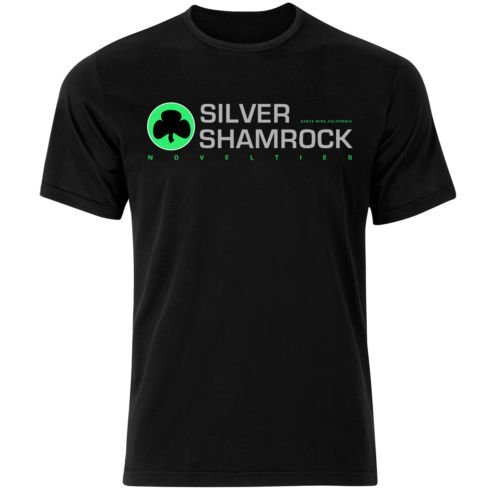 Mens Halloween 3 Movie Silver Shamrock Novelties T Shirt (XXL) -