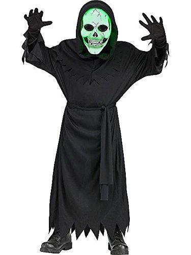 White Reaper Costume (Fun World FW132772_M Lite Up Soul Reaper Costume For Kids Medium)