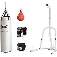 Everlast Single-Station Heavy Bag Stand with 70 lb Platinum Heavy Bag Kit