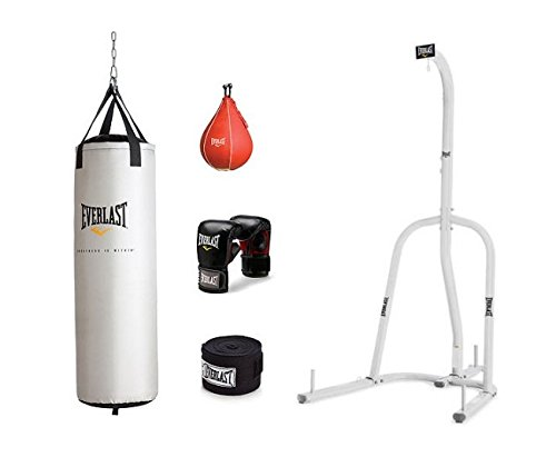 Heavy Bag And Speed Bag Stand (Everlast Single-Station Heavy Bag Stand with 70 lb Platinum Heavy Bag Kit)