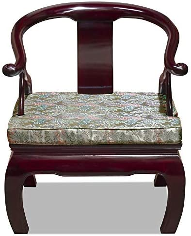 Hand Crafted Rosewood Chow Leg Monk Chair – Dark Cherry