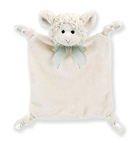 "Bearington Baby Wee Lamby Plush Lamb Security Blankie, Lovey 8"" x 7"""