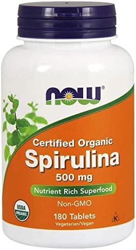 Now Foods Organic Spirulina Tablets, 180