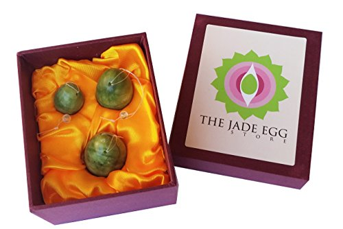 UPC 030043304339, Jade Eggs for Women Kegel Exercises Set of 3 with Instructions; Pre-drilled 100% Natural Jade Yoni Weights