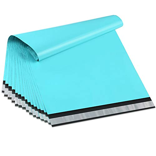 UCGOU 14.5x19 Inch Teal Poly Mailers 2.35MIL Premium Shipping Envelopes Mailer Self Sealed Mailing Bags with Self Adhesive Strip Waterproof and Tear-Proof Postal Bags 100Pcs