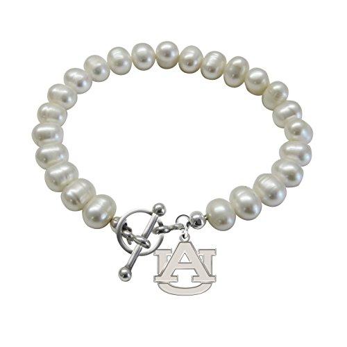 Auburn University Tigers Freshwater Pearl Charm Bracelet ()
