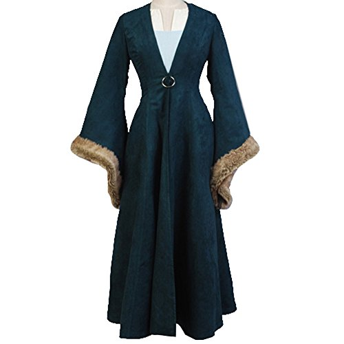 CosplaySky Game of Thrones Costume Catelyn Stark Dress Coat Medium by Cosplaysky (Image #7)