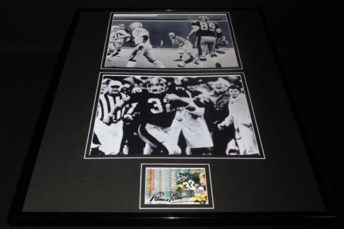 - Franco Harris Signed Framed 16x20 Photo Set Immaculate Reception Steelers