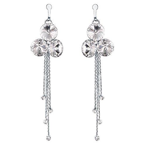 Yoursfs Clip-on Earrings Bar Dangle 18K Gold Plated Threader Chain Clip On Earrings, Minimal Clip Earrings, Non Pierced Earrings, Gift for (Gold Plated Pierced Earrings)