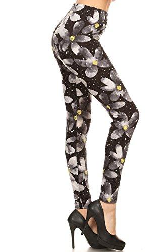 (R822-PLUS Floral Trance Print Fashion Leggings)