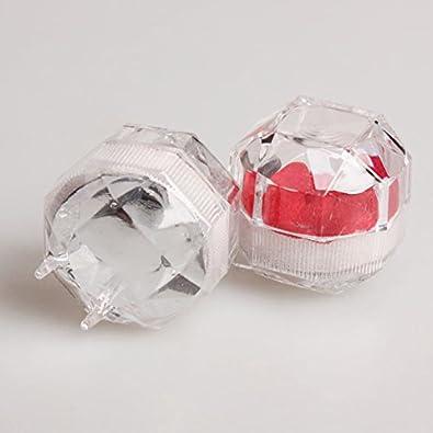 10 unidades Prosperveil Caja de almacenamiento para pendientes transparente acr/ílico