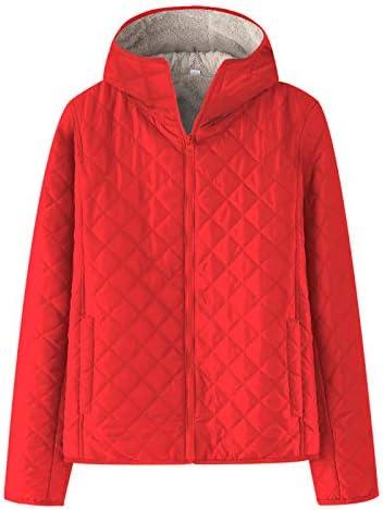 ZumZup Womens Winter Warm Cotton Jacket Coat Thick Jacket Zip Up Inner Fleece