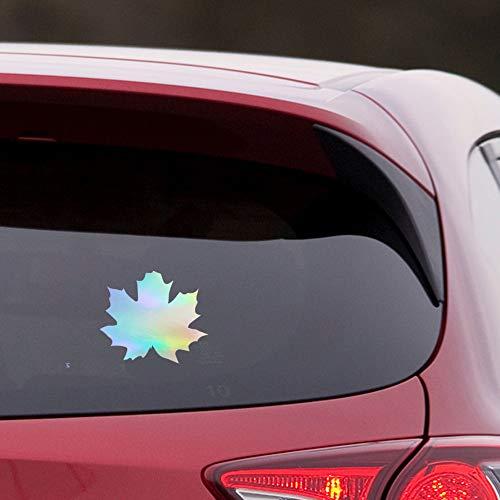 NBFU DECALS Maple Leaves (Hologram) (Set of 2) Premium Waterproof Vinyl Decal Stickers for Laptop Phone Accessory Helmet CAR Window Bumper Mug Tuber Cup Door Wall Decoration
