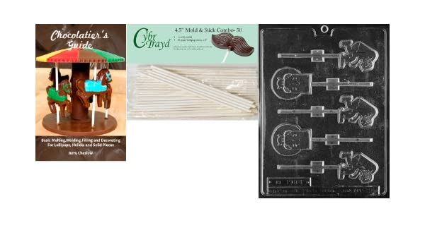 CybrtraydR.I.P and Hunchback R.I.P Halloween Chocolate Candy Mold with Chocolatiers Guide