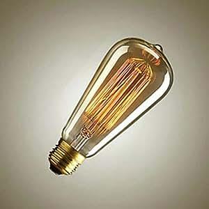 Sister-A ST64 Filament Ampoule Vintage edison Lamp Incandescent Light Bulb 40W Yellow Color