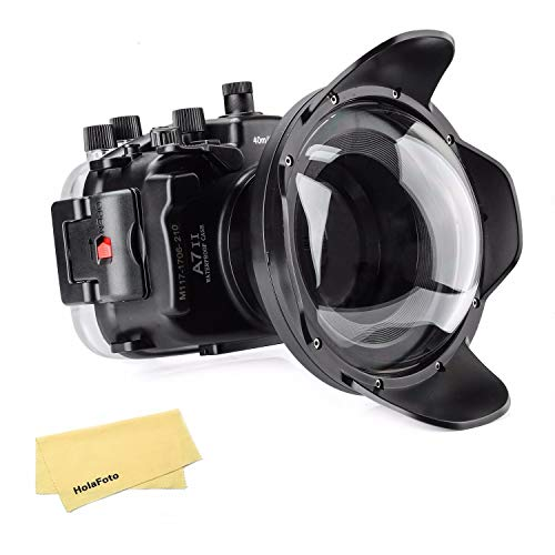 Meikon Underwater Camera Housing Case w/Dome Port