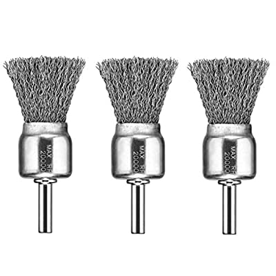 DEWALT DW4901 1-Inch Crimped End Wire Brush, 3 Pack