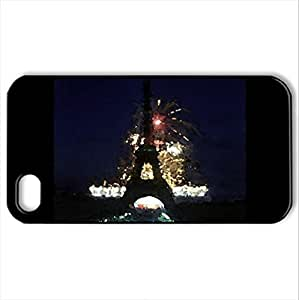 Beautiful Eiffel Tower for Helen - Case Cover for iPhone 4 and 4s (Watercolor style, Black)