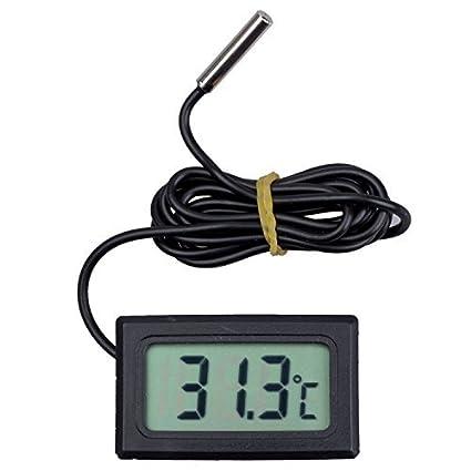 Amazon.com : LCD Display Digital Frigorífico Frigorífico Freezer Termômetro de temperatura 50 abaixo para 110C (preto) : Garden & Outdoor