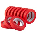 LICHAMP 10 Pack Red Painters Tape 1 inch, Medium