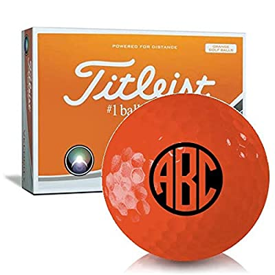 Titleist Velocity Orange Monogram Personalized Golf Balls