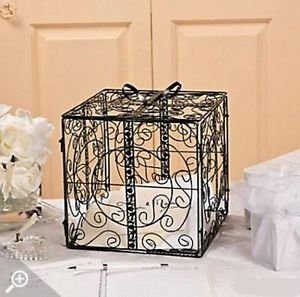 Wedding Gift Box Dubai : Black Metal Wedding Gift Box Card Holder Beautiful Wedding Reception ...