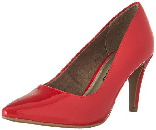 Tamaris 22447, Escarpins Femme Rouge (Chili Patent)