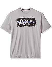 Men's Ax 91 Metallic Logo Crew Neck