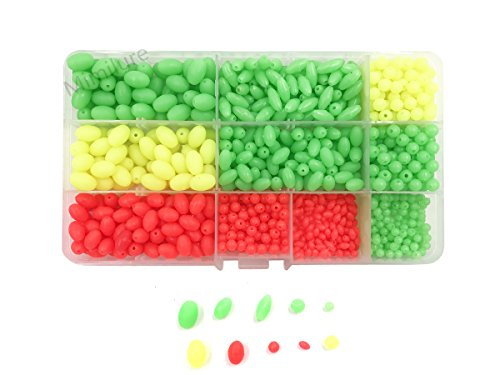 - Mimilure Luminous Glow Fishing Beads Soft Plastic Oval Shaped Beads Fishing Tackle Tools Eggs,10 Size(1000pcs)