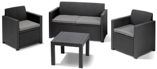 Amazon.de: Allibert Lounge-Set Alabama 4tlg., graphit/cool grey