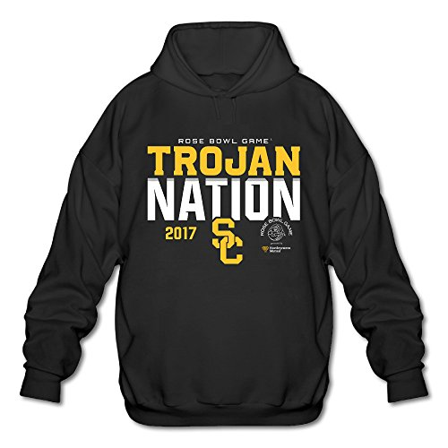 JMHLY Men's USC Trojans 2017 Rose Bowl Bound Nation Hoodie Black (Bound Bowl Hoody)
