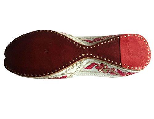 Step n Style Women Flat Ballerina Punjabi Jutti Khussa Shoes Tribal Shoes Beaded Shoes mNmBf8HB