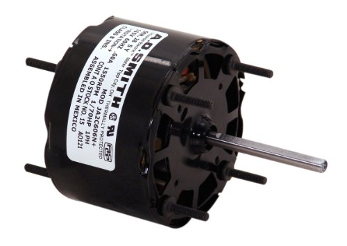 A.O. Smith 32 3.3-Inch 1/70 HP, Open Enclosure, Sleeve Bearing, CWSE Rotation, 2-1/2-Inch by 1/4-Inch Shaft General Purpose Shaded Pole Motor