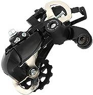 Bicycle Rear Derailleur, Wear-Resisting Anti-Rust Metal Bike Rear Wheel Derailleur Gear for 21/24 Speed Bikes