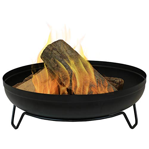 Sunnydaze Steel Outdoor Wood-Burning Fire Pit Bowl