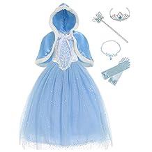 Muababy Girls Sparkle Sequin Princess Dress Costume